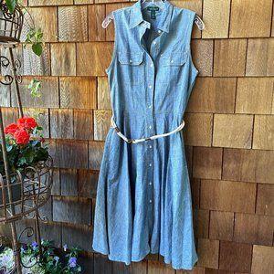 EUC Ralph Lauren Jeans Co Chambray Dress - 8